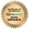 trip advisor certificate of excellence award 2015