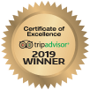 trip advisor certificate of excellence award 2019