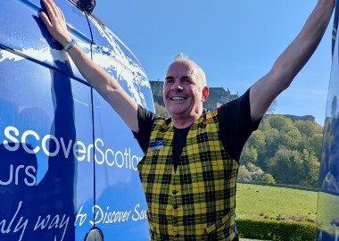 Tour Leader Michael exploring Scotland