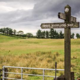 West Highland Way Signpost - Charity Walk